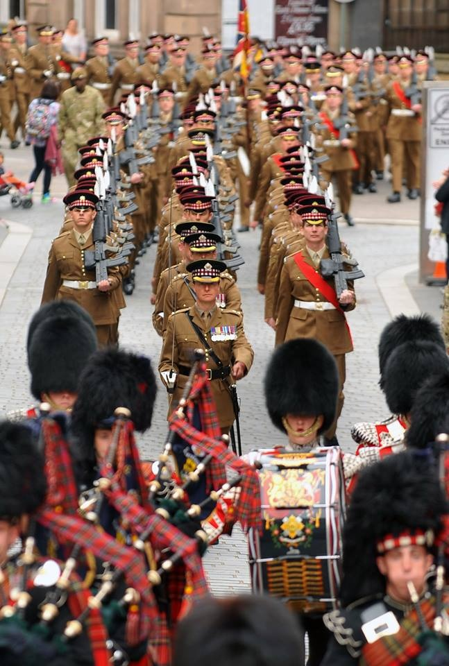 Scots Guards returning from Afghanistan.