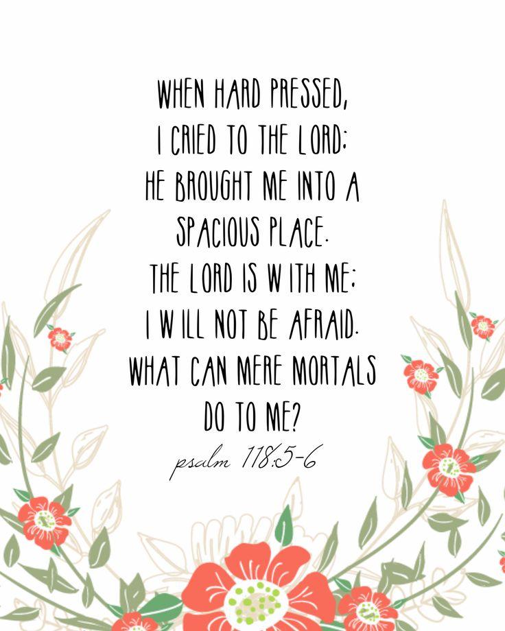 Psalm 118:5-6 #psalms