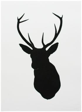 Oh Deer Black Screen Print. Love!