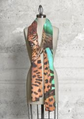 """Cheetah"" scarf is one of my newest designs for HSN that I submitted.  Receive a 20.00 discount using on of the 3-one time codes listed.  HSN-ca822dts, HSN-fe8s65fc or HSN-df7e2sd3 at http://www.shopvida.com/collections/voices/linda-lindsly.  Offer available for a limited time only."