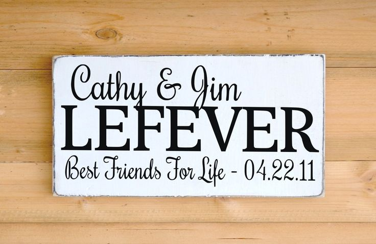 Unique Wedding Gifts For Best Friends : Family Name Sign Personalized Wedding Gift Couple Names Best Friends ...