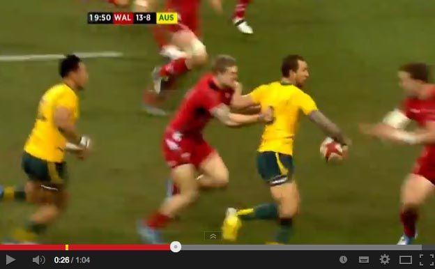 Quade Cooper due offloads per lo spettacolo nello spettacolo » On Rugby