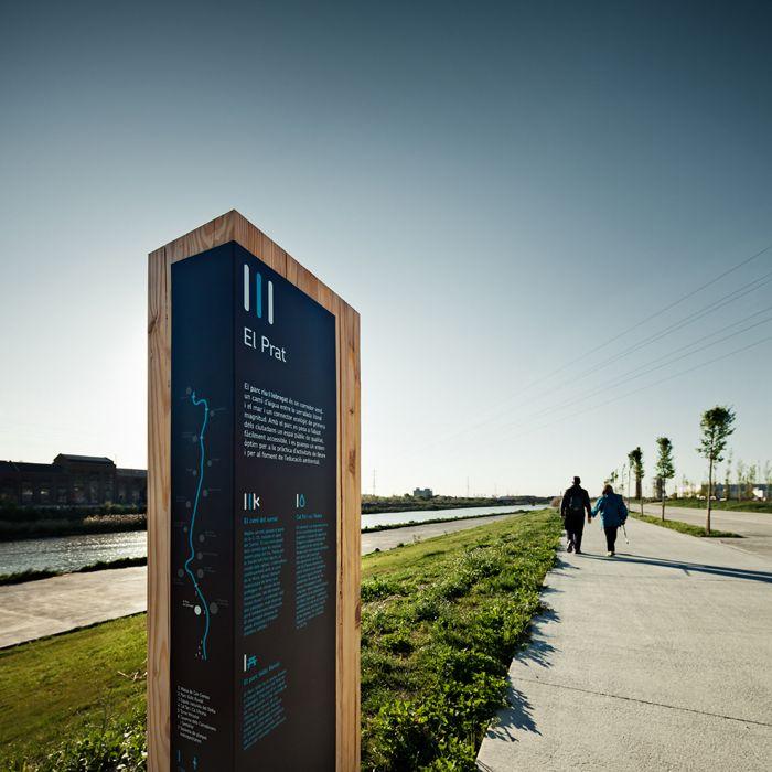 Señalización, Señalética, Senyalització, Signage, Parc Riu Llobregat, Llobregat, parrque, natural, signage system, river, Cla se, Claret Serrahima