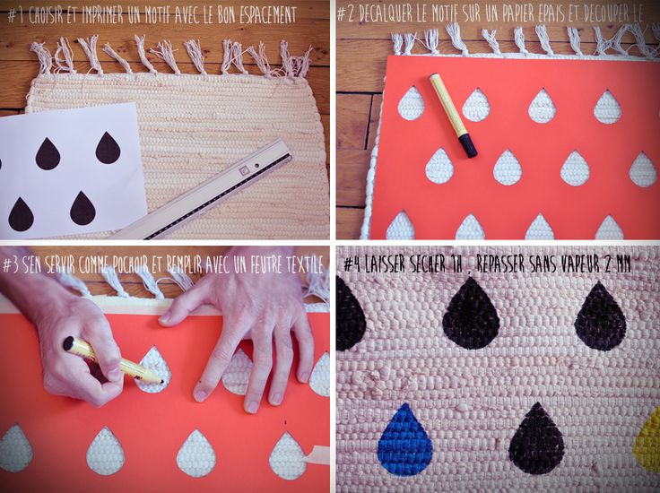 diy tapis fly etapes cant afford that trendy rug that you love so much well make one - Tapis Color Fly