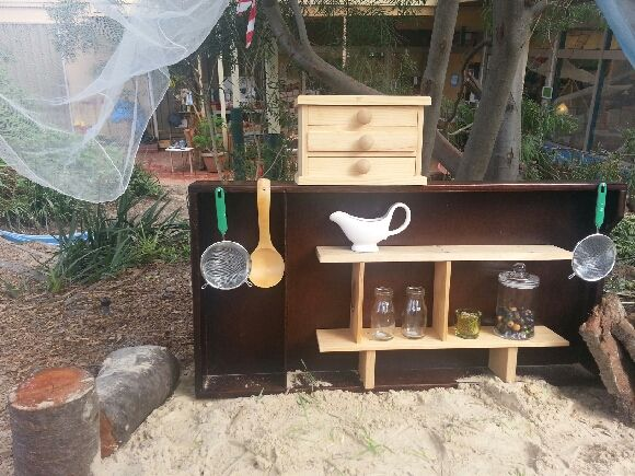 """Simple outdoor kitchen at Journey Into Play ("""",)"""