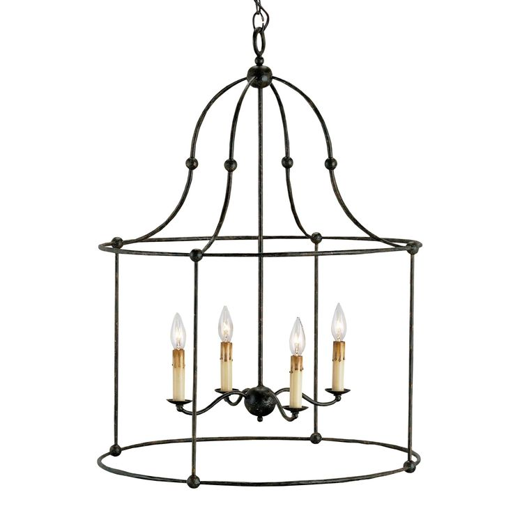 Wrought Iron Lantern by Currey and Company