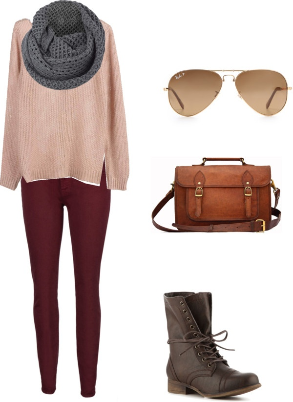 """""""burgundy pants and combat boots"""" by layylaydoll on Polyvore"""
