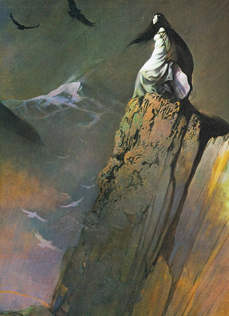 frank frazetta: red moon and black mountain