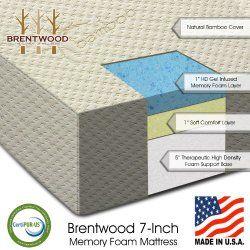 Bwood 7 Firm Gel Infused Hd Memory Foam Mattress 100 Made In Usa