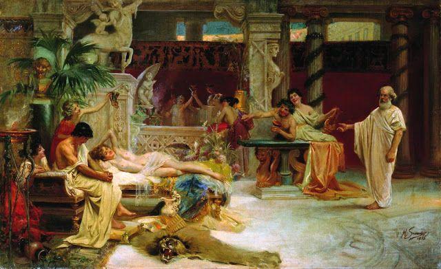 Ο Σωκράτης βρίσκει τον μαθητή του Αλκιβιάδη με τις εταίρες