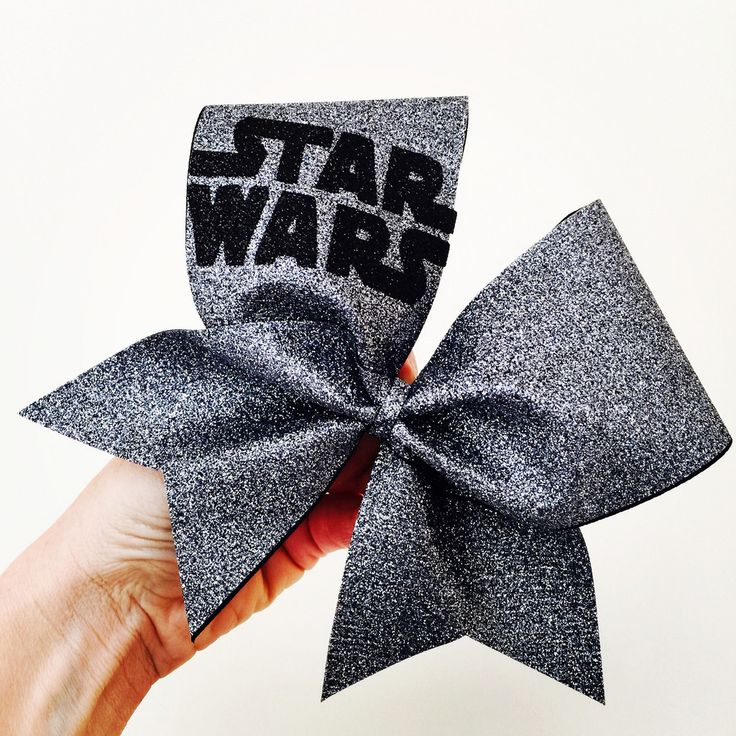 Space Gray Total Glitter Star Wars Cheer Bow