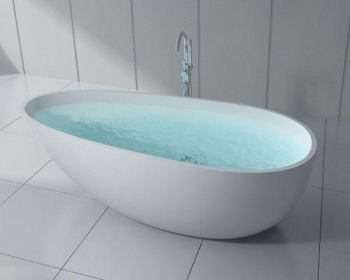 Banheiras de Imersão - Top Bath H - 06  (1,70 x 0,85 x 0,54 m)    Linhas ovais para um banho com estilo.
