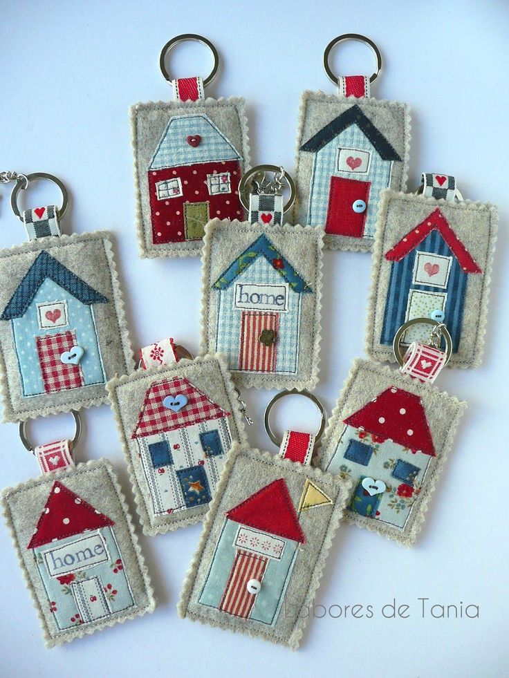 Elegant Little House Key Chains   No Instructions.