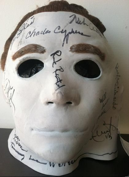 original Michael Myers mask just put up for auction from Jamie Lee Curtis's own personal collectio