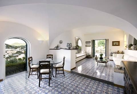 Mediterranean living. Villa Rossana (sleeps 8-10) is located on #Capri, within walking distance of La Piazzetta, the town's fashionable hub.