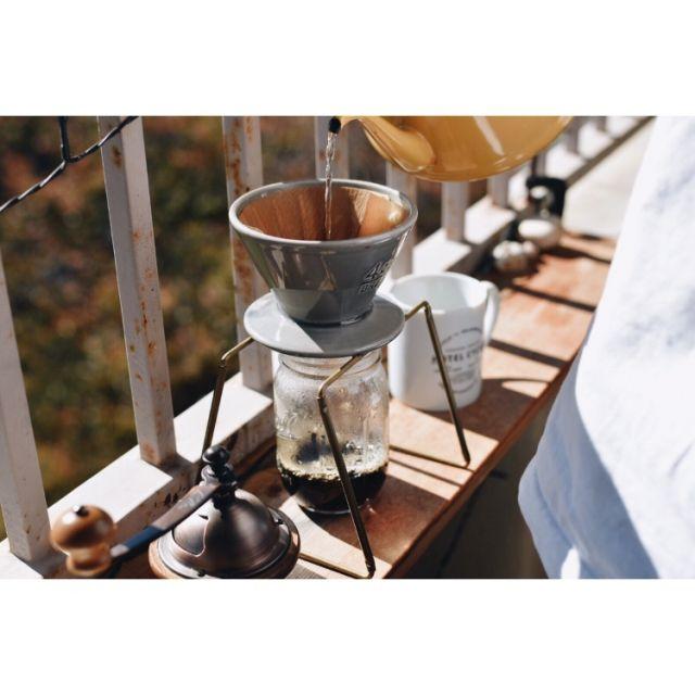 何でもない日常をちょっと贅沢に。ベランダで過ごす珈琲テーブルDIY by hiroyakizawaさん | RoomClip mag | 暮らしとインテリアのwebマガジン