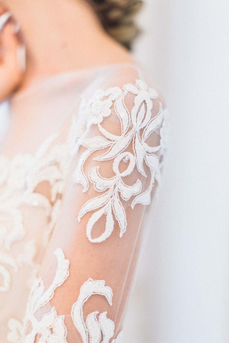 lace wedding dresses - photo by The Lockharts http://ruffledblog.com/muted-mediterranean-inspired-wedding-ideas