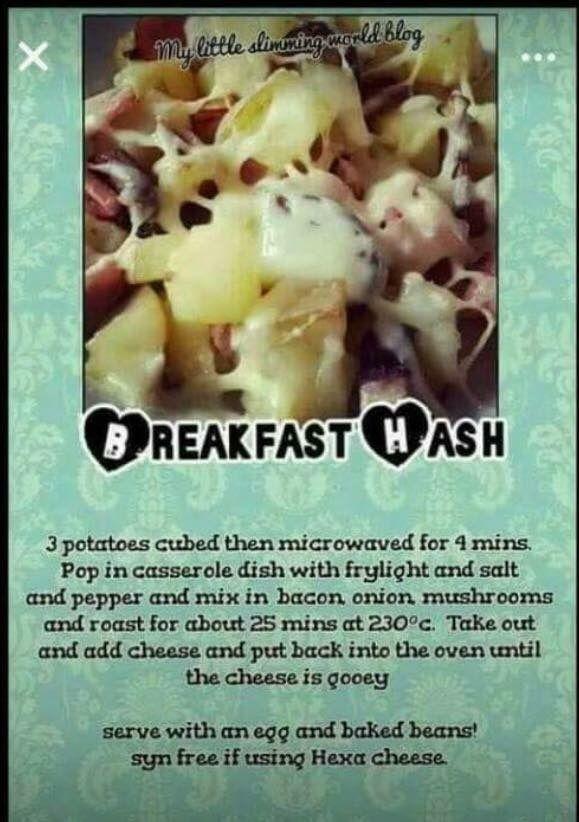 Slimmingworld breakfast hash