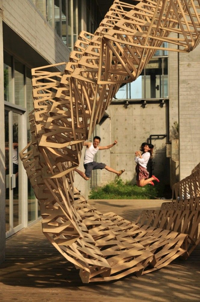 O-STRIP Pavilion / Tongji University Team  Fabrication workshop