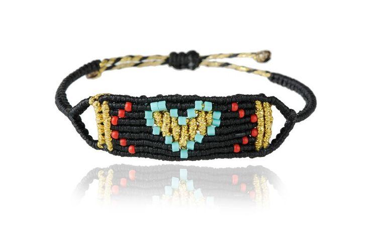 Zoe Kompitsi   Black & Turquoise Heart Band