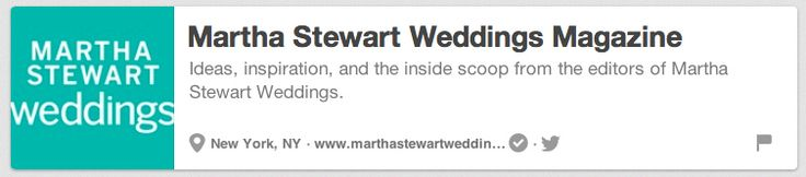 Martha Stewart Weddings Magazine | The 25 Best Pinterest Accounts To Follow When Planning Your Wedding