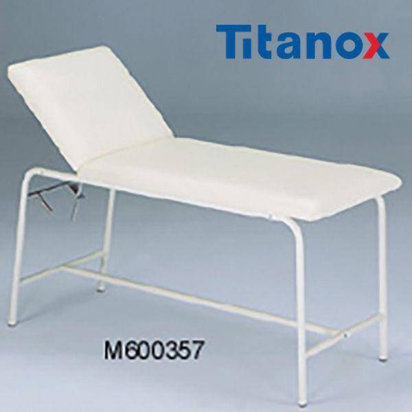TX 600357 Canapea de examinare realizata din otel emailat vopsit in alb pe structura tubulara, spatar reglabil, husa saltea realizata din material lavabil. - http://ortopedix.ro/pat-pentru-ingrijire-acasa/1109-tx-600357-canapea-de-examinare.html