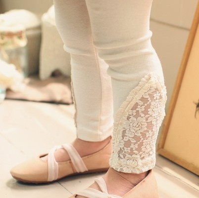 White lace detailed leggings $14.95