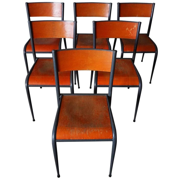 set of six vintage french school chairs school chairsmood dining room