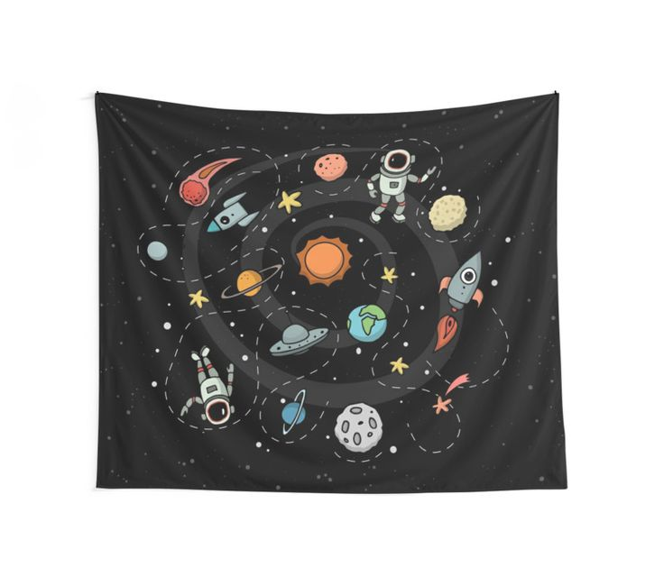 Outer Space Illustration by Gordon White | Wall Tapestry Available in 3 Sizes @redbubble  --------------------------- #redbubble #sticker #walltapestry #tapestry #homedecor #bedroom #livingroom --------------------------- http://www.redbubble.com/people/big-bang-theory/works/22569162-outer-space-planetary-illustration?asc=u&p=tapestry&rel=carousel