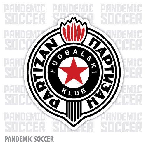 FK Partizan Belgrade Serbia Vinyl Sticker Decal