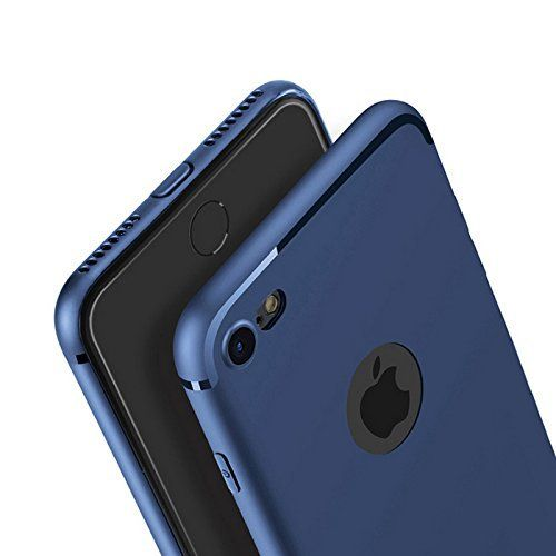 #VINNY ™ #Soft Silicone With #Anti #Dust Plugs Shockproof #Slim Back #Cover Case For Apple #Iphone 7 - #Blue