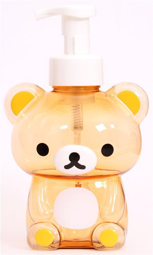 Rilakkuma brown bear shampoo bottle soap dispenser