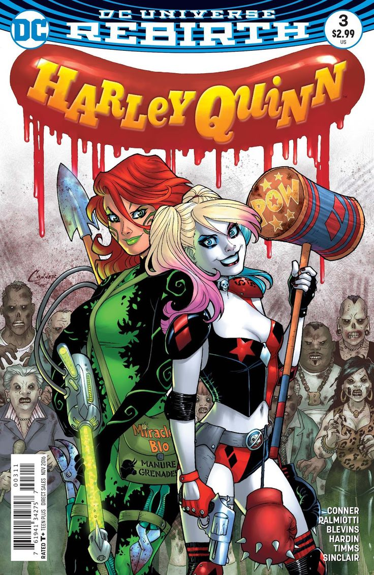 """""""DIE LAUGHING"""" part 3! In this concluding chapter, Coney Island threatens to collapse completely under a tidal wave of zombies! Harley's got a lead on a cure-but what's it going to take to administer"""