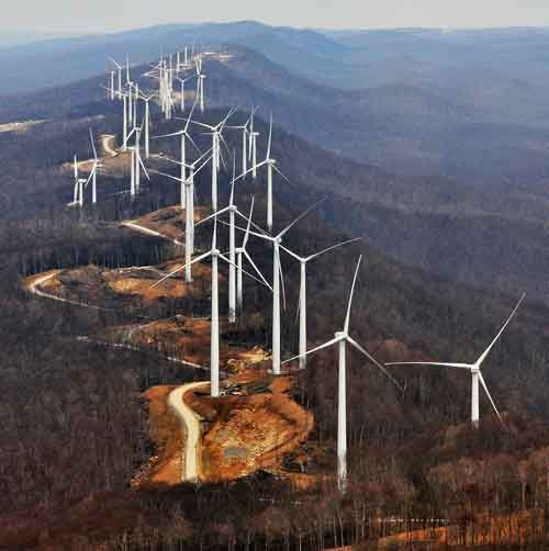 Windfarm under construction near Elkins, West VA