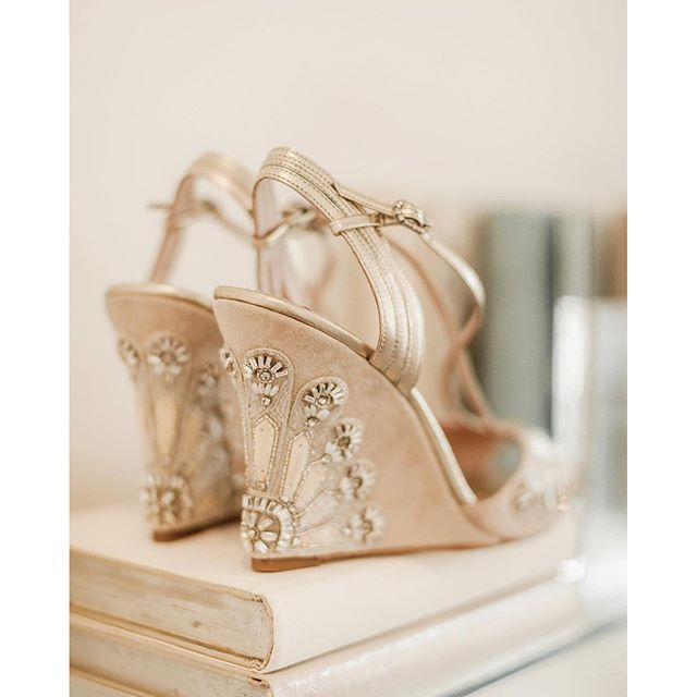 If wedges are your thing, then this pair from @emmyshoes could possibly be the most glamorous you will ever find. This lovely image was taken by @naomoikenton for @lovemydress - you will find the full feature by typing this address into your browser addre