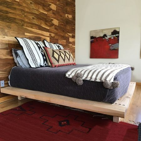 Diy Crafts  :   Illustration   Description   Pine scaffolding planks are perfect for making this chunky platform bed. You can buy these at most timber merchants and they are reasonably priced if you are prepared to put in the effort of sanding them smooth, or lookout for reclaimed scaffolding... - #DIYCrafts