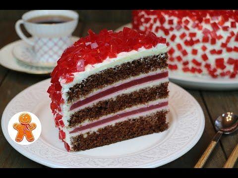 """Торт """"Рубиновый"""" очень эффектный, оригинальный и вкусный - YouTube"""