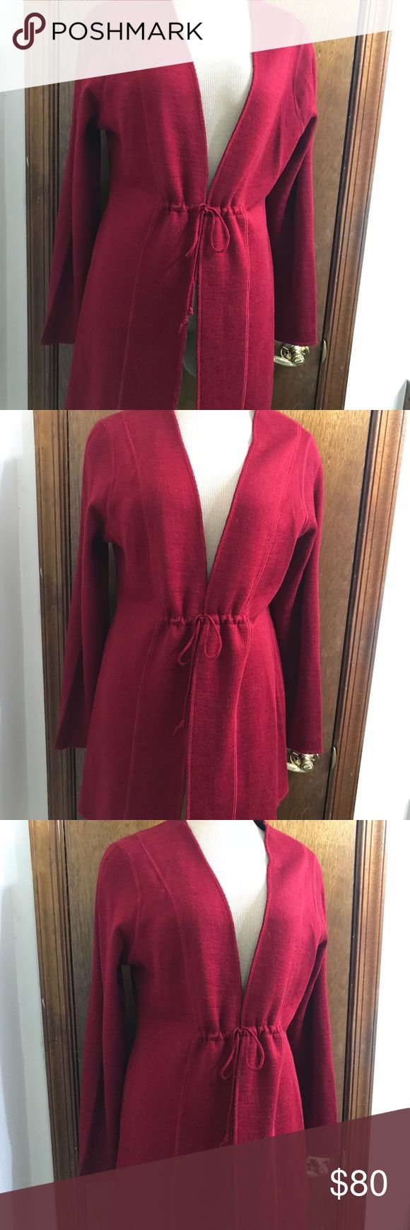 "Eileen Fisher Women's Red Black Wool Cardigan Eileen Fisher Women's Red Black Wool Cardigan Sweater Size Large  Wool blend Tags removed by previous owner due to being itchy Pit to pit 20.5"" Waist 18.5"" across  Sleeves 25"" Shoulders 16.5"" Length 34"" Excellent Condition Eileen Fisher Sweaters Cardigans"