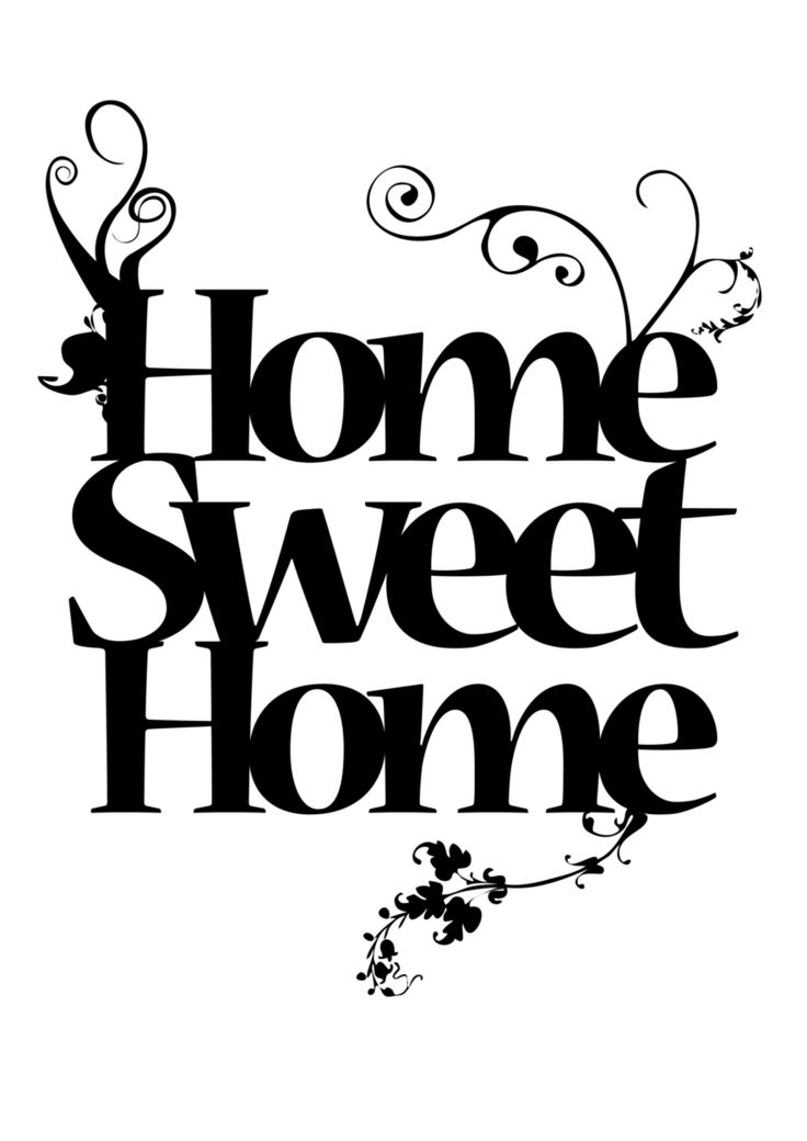 Home Sweet Home by ladysilver2267 on deviantART - used this on chevron scrapbook paper (ran it through my printer) and it turned out really cute. Perfect for my daughters picture ledge in her new apartment .