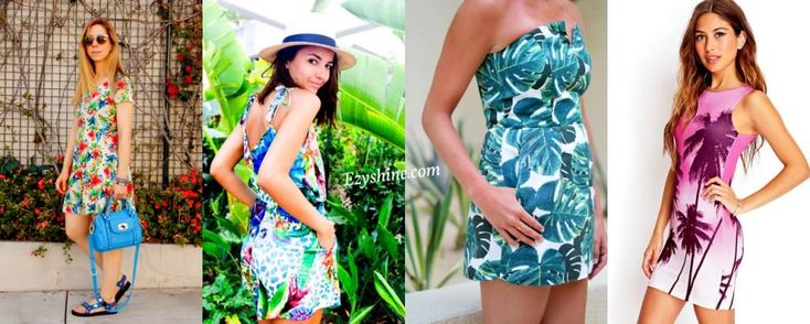 Cool Tropical & Palm Prints..!! On-demand graphic print style - giving a bold and gorgeous look to girls, whereas guys get a perfect eye tonic too..!! Lolzz..!!