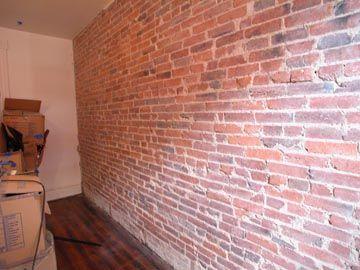 Brick accent walls easy diy and thin brick veneer on pinterest for Brick veneer for interior walls