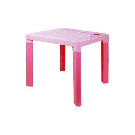 Alternativa Стол детский ,  Alternativa, розовый  — 550р. ------ Этот детский стол - идеальный вариант для письменных занятий. Стол очень устойчивый и прочный, с него удобно оттирать краску или пластилин. Кроме того, он имеет 3 углубления, которые можно использовать для стаканчика с карандашами и других письменных принадлежностей. Замечательный выбор для ребенка!  Дополнительная информация: Материал: пластик Цвет: розовый Размеры: 51,5х51,5х47,5 см  Детский стол можно приобрести в нашем…