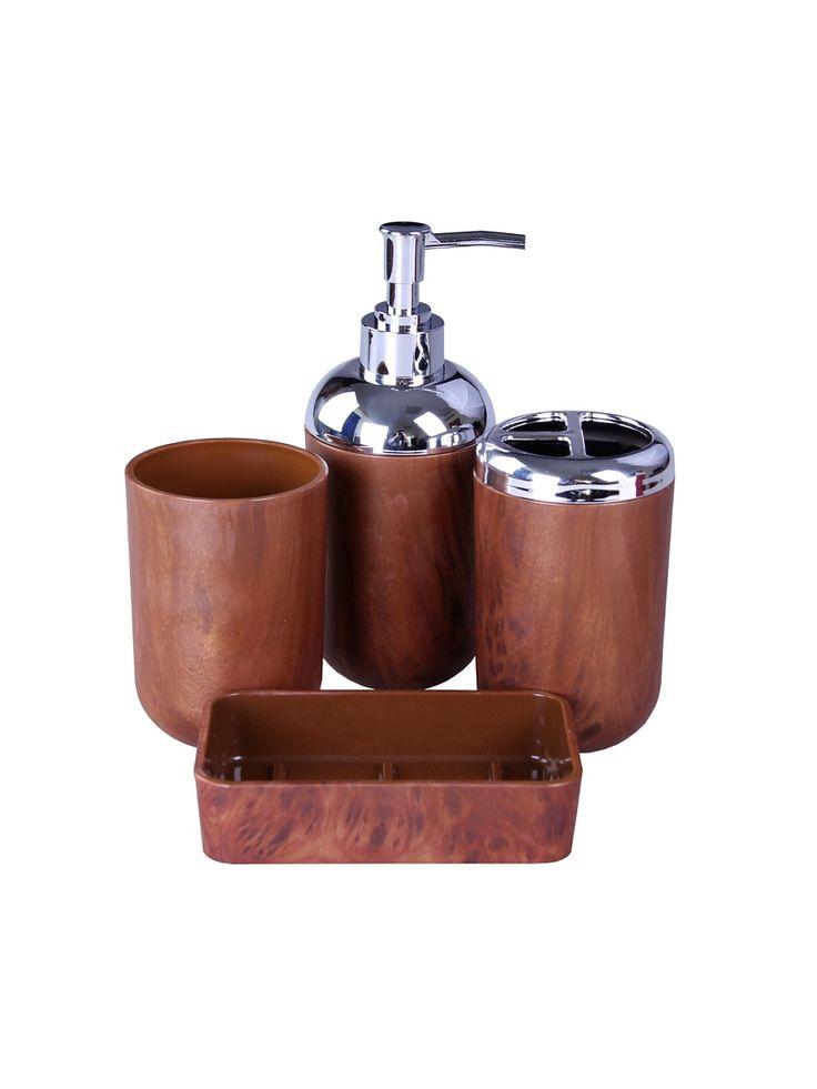 Patricia Набор для ванны 4 предмета: дозатор, подставка под зубные щетки, стакан, мыльница