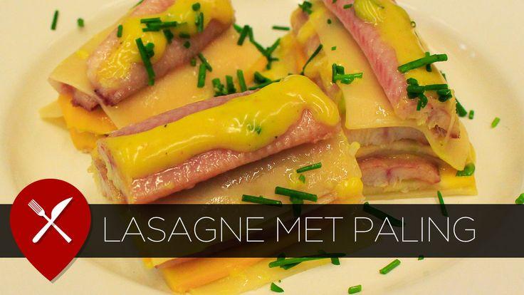 Recept: lasagne met paling, courgette en kerriesaus. Lekker voor het diner, maar ook leuk om te serveren tijdens de borrel.