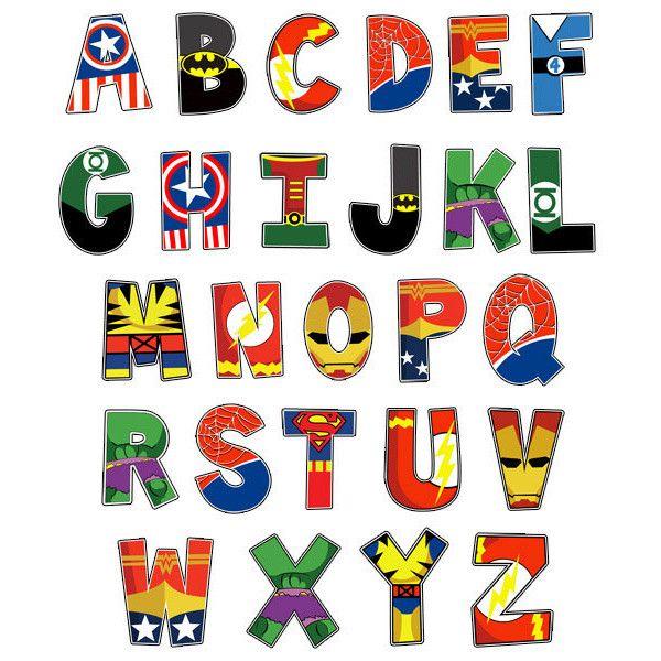 Superhero Alphabet Poster 16x20 Digital File Superhero