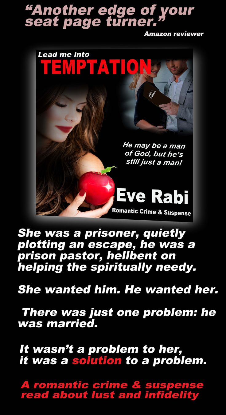#books #RomanticSuspense #Reading #GoodBooks #CrimeFiction #PinterestBooks #Kindle #CrimeThrillers ........................She was a prisoner plotting an escape, he was a prison pastor,  helping the spiritually needy. Her plan was simple – seduce the man of God, enlist his help in breaking out of prison, steal someone's identity and live as a free person. There was a problem - he was already married. It wasn't a problem to her, it was a solution - murder the  unsuspecting wife and assume her…