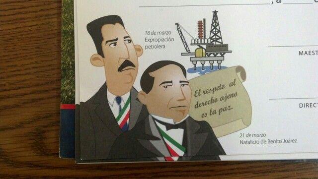 Friso de Expropiación petrolera y natalicio de Benito Juárez