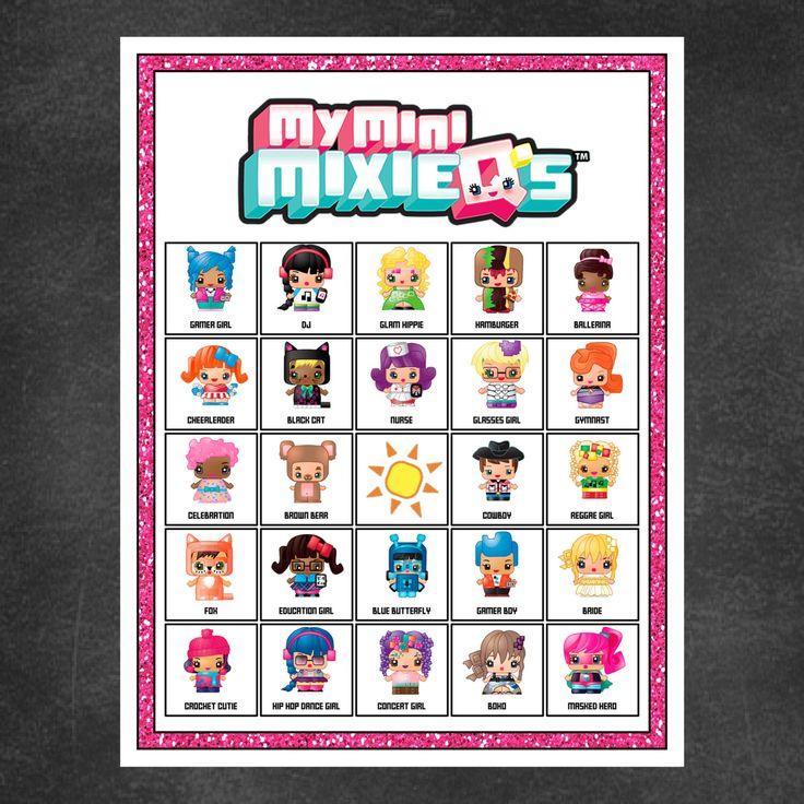 My Mini Mixie Qs Birthday Party Bingo Game