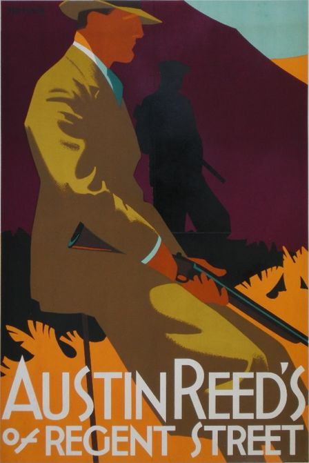 By Tom Purvis (1888-1959), ca 1930, Austin Reed's of Regent Street. He served with The Artists Rifles in WWI.