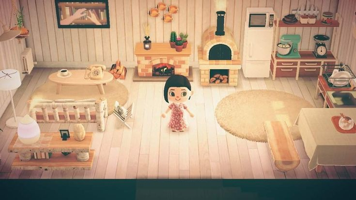 My cottagecore kitchen/living room in 2020 | New animal ... on Ironwood Kitchen Animal Crossing  id=60675
